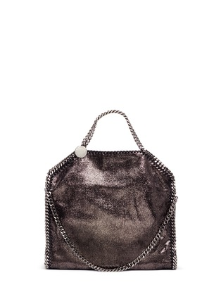 Stella McCartney - 'Falabella' small shaggy deer foldover chain tote