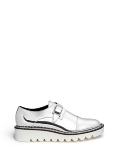STELLA MCCARTNEY 'Odette' mirror eco leather monk strap shoes