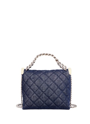 Back View - Click To Enlarge - Stella McCartney - 'Becks' medium faux shearling quilted denim shoulder bag