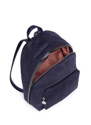 细节 - 点击放大 - STELLA MCCARTNEY - 'Falabella' small shaggy deer chain backpack