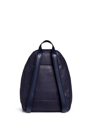 Back View - Click To Enlarge - Stella McCartney - 'Falabella' small shaggy deer chain backpack