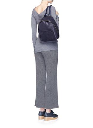 模特儿示范图 - 点击放大 - STELLA MCCARTNEY - 'Falabella' small shaggy deer chain backpack
