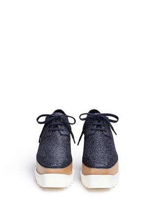 正面 -点击放大 - STELLA MCCARTNEY - ELYSE闪粉鞋面坡跟系带鞋