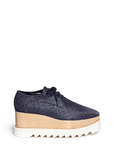 Stella McCartney 'Elyse' glitter wood platform derbies
