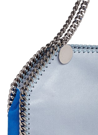 Detail View - Click To Enlarge - Stella McCartney - 'Falabella' small colourblock shaggy deer chain tote