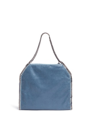 Back View - Click To Enlarge - Stella McCartney - 'Falabella' small colourblock shaggy deer chain tote