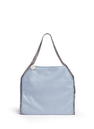 Main View - Click To Enlarge - Stella McCartney - 'Falabella' small colourblock shaggy deer chain tote