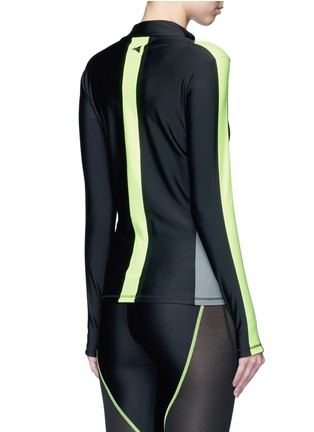 Laain - Arrow colourblock zip front top