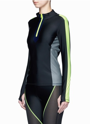 Front View - Click To Enlarge - Laain - Arrow colourblock zip front top