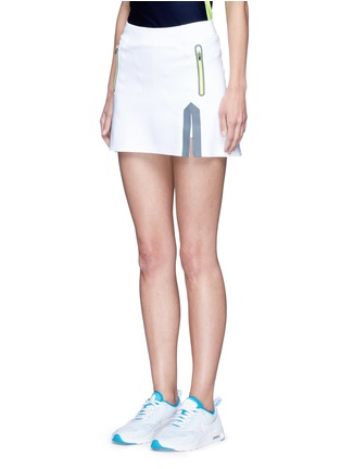 Front View - Click To Enlarge - Laain - Neon trim tech jersey tennis skirt