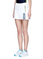 Neon trim tech jersey tennis skirt