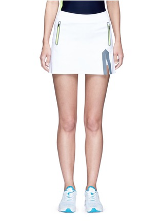 Main View - Click To Enlarge - Laain - Neon trim tech jersey tennis skirt