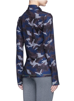 Back View - Click To Enlarge - Laain - Camouflage print zip front top