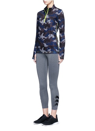 Figure View - Click To Enlarge - Laain - Camouflage print zip front top