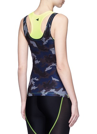 Back View - Click To Enlarge - Laain - Neon double layer tank top
