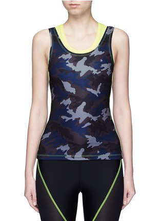 Main View - Click To Enlarge - Laain - Neon double layer tank top
