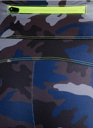 Detail View - Click To Enlarge - Laain - Camouflage performance jersey 3/4 leggings