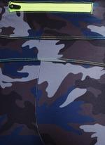 Camouflage performance jersey bike shorts