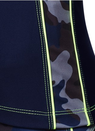 Detail View - Click To Enlarge - Laain - Camouflage colourblock tank top