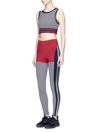 Figure View - Click To Enlarge - No Ka'Oi - 'Lele' foil trim sports bra