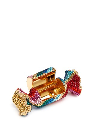 Detail View - Click To Enlarge - Judith Leiber - 'Candy' rainbow twist crystal candy pill box