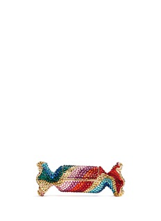 JUDITH LEIBER'Candy' rainbow twist crystal candy pill box