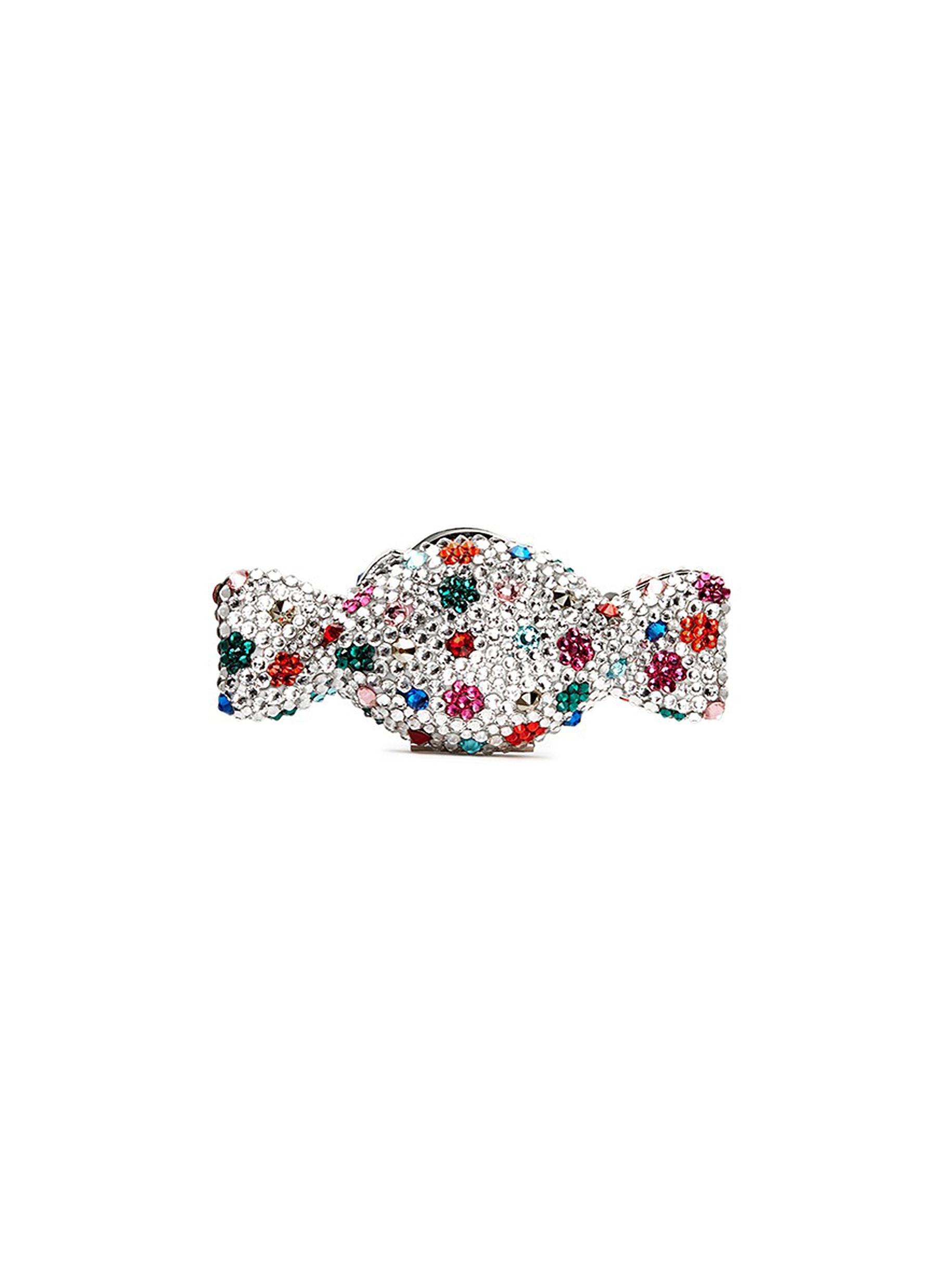 Candy polka dot crystal pill box by Judith Leiber