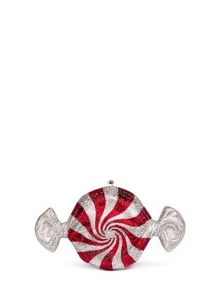 Back View - Click To Enlarge - Judith Leiber - 'Peppermint Candy' crystal pavé minaudière