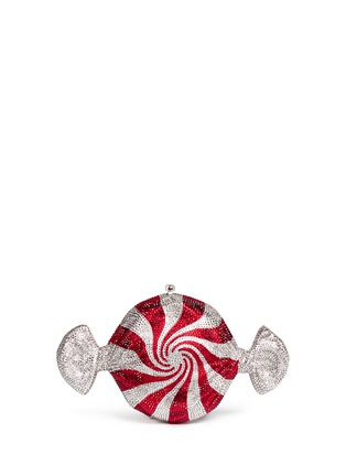 Main View - Click To Enlarge - Judith Leiber - 'Peppermint Candy' crystal pavé minaudière