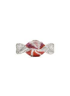 JUDITH LEIBER'Candy' peppermint swirl crystal pill box
