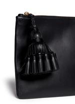 'Georgiana' leather clutch