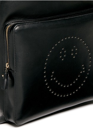 Detail View - Click To Enlarge - Anya Hindmarch - 'Smiley' leather backpack