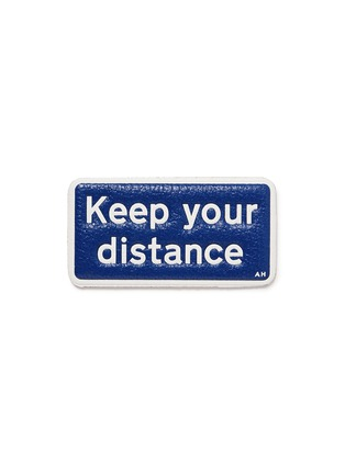 Main View - Click To Enlarge - Anya Hindmarch - x Chaos Fashion 'Keep Your Distance' leather sticker