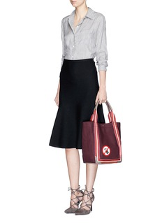 ANYA HINDMARCH 'No Mobile' small canvas shopper tote