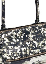 'Pandora' mini baby's breath floral print leather bag