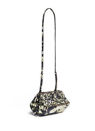 Givenchy - 'Pandora' mini baby's breath floral print leather bag