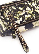 'Pandora' baby's breath floral print leather wristlet pouch