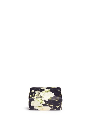 Givenchy - 'Pandora' baby's breath floral print leather wristlet pouch