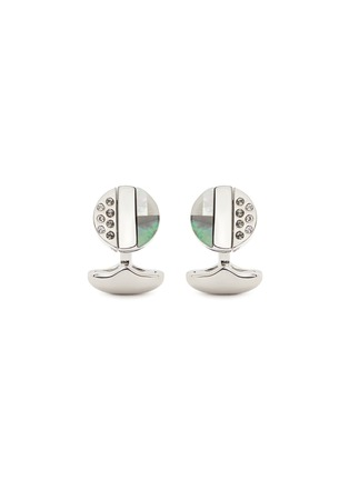 Figure View - Click To Enlarge - Babette Wasserman - 'Rotary' reversible cufflinks