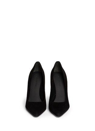 Figure View - Click To Enlarge - Alexander Wang  - 'Ine' cutout wedge suede pumps