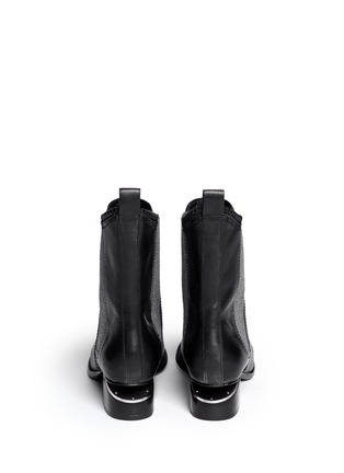 Back View - Click To Enlarge - Alexander Wang  - 'Anouck' cutout heel leather Chelsea boots