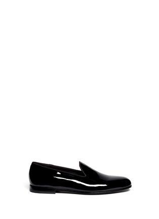 Main View - Click To Enlarge - GIORGIO ARMANI - Patent leather smoking shoes