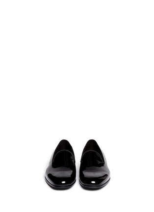Figure View - Click To Enlarge - GIORGIO ARMANI - Patent leather smoking shoes