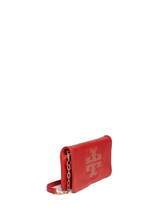 Detail View - Click To Enlarge - Tory Burch - 'Reva' logo stud leather crossbody bag