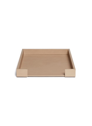 Pinetti - Liverpool leather letter tray