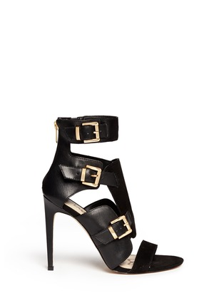 Main View - Click To Enlarge - Sam Edelman - 'Perth' suede panel leather sandals