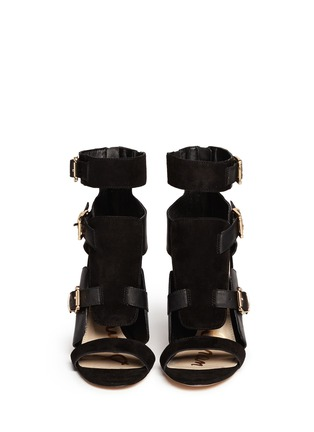 Figure View - Click To Enlarge - Sam Edelman - 'Perth' suede panel leather sandals