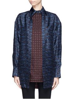 ALEXANDER WANG Double layer paisley print silk shirt
