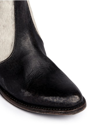 Detail View - Click To Enlarge - FREEBIRD - 'Lasso' calf hair distressed leather Chelsea boots