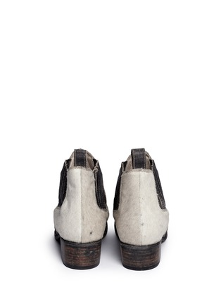 Back View - Click To Enlarge - FREEBIRD - 'Lasso' calf hair distressed leather Chelsea boots